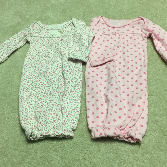 Carter\'s Other | Lot Of 2 Preemie Gowns | Poshmark